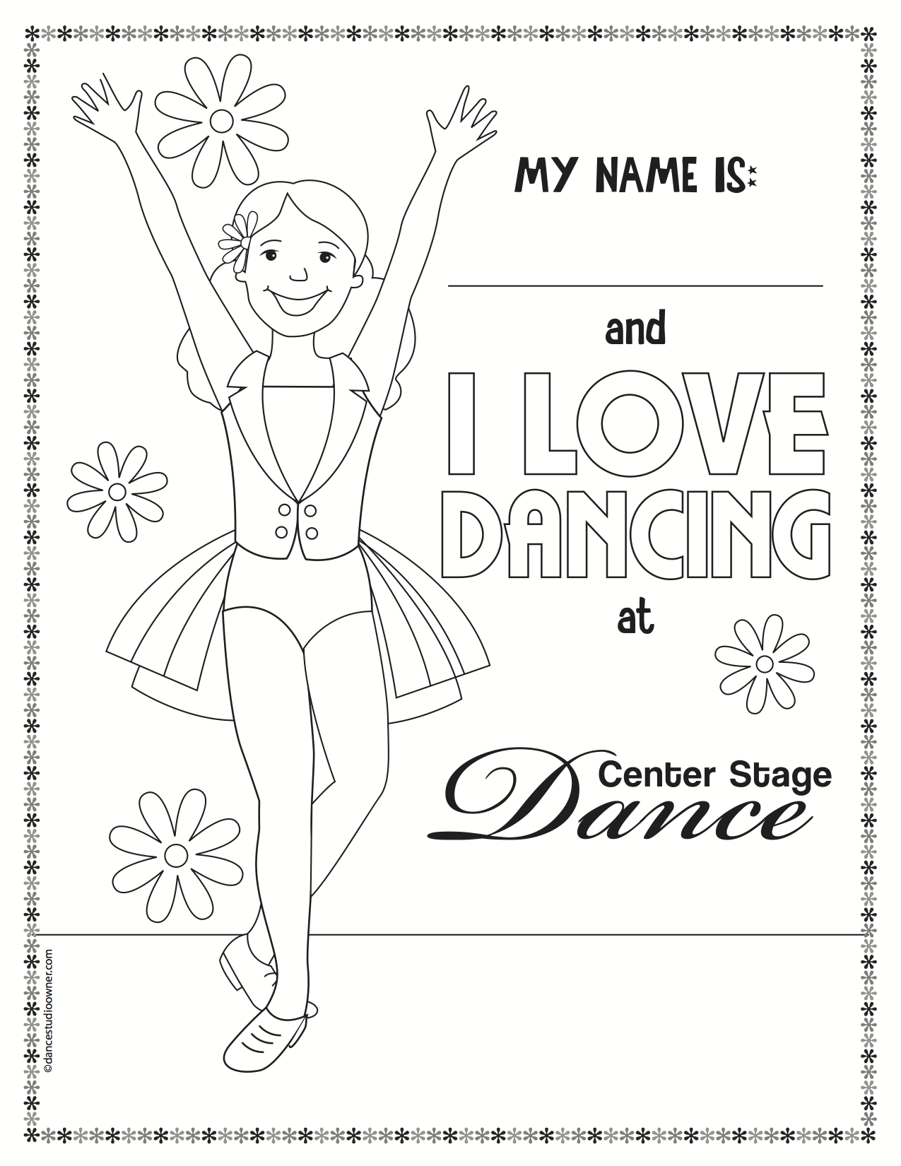 tap dance coloring pages - photo#15